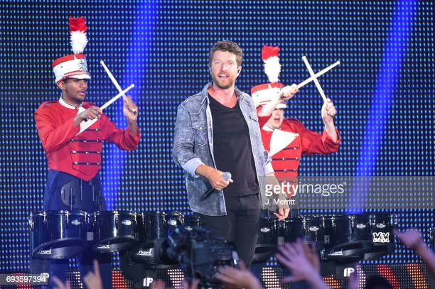 Brett Eldredge performs onstage at the 2017 CMT Music Awards at the Music City Center on June 7 2017 in Nashville Tennessee
