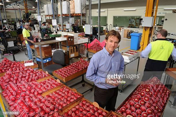 Brett Elliot Group Managing Director of Kookaburra at the Kookaburra cricket ball factory at Moorabbin in Melbourne October 24 2012 This iconic...