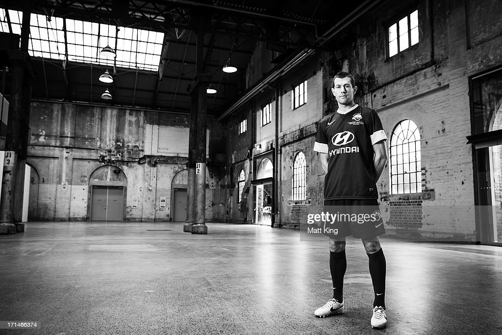 Brett Emerton poses during the A-League All Stars jersey launch at Carriageworks on June 25, 2013 in Sydney, Australia.