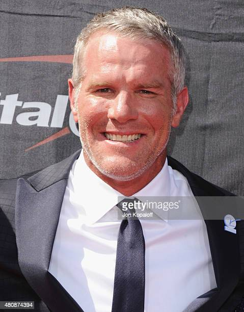 Brett Favre arrives at The 2015 ESPYS at Microsoft Theater on July 15 2015 in Los Angeles California