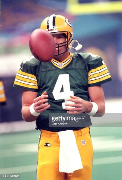 Brett Favre Green Bay Packers QB during 1997 Super Bowl Halftime Show in New Orleans Louisiana United States