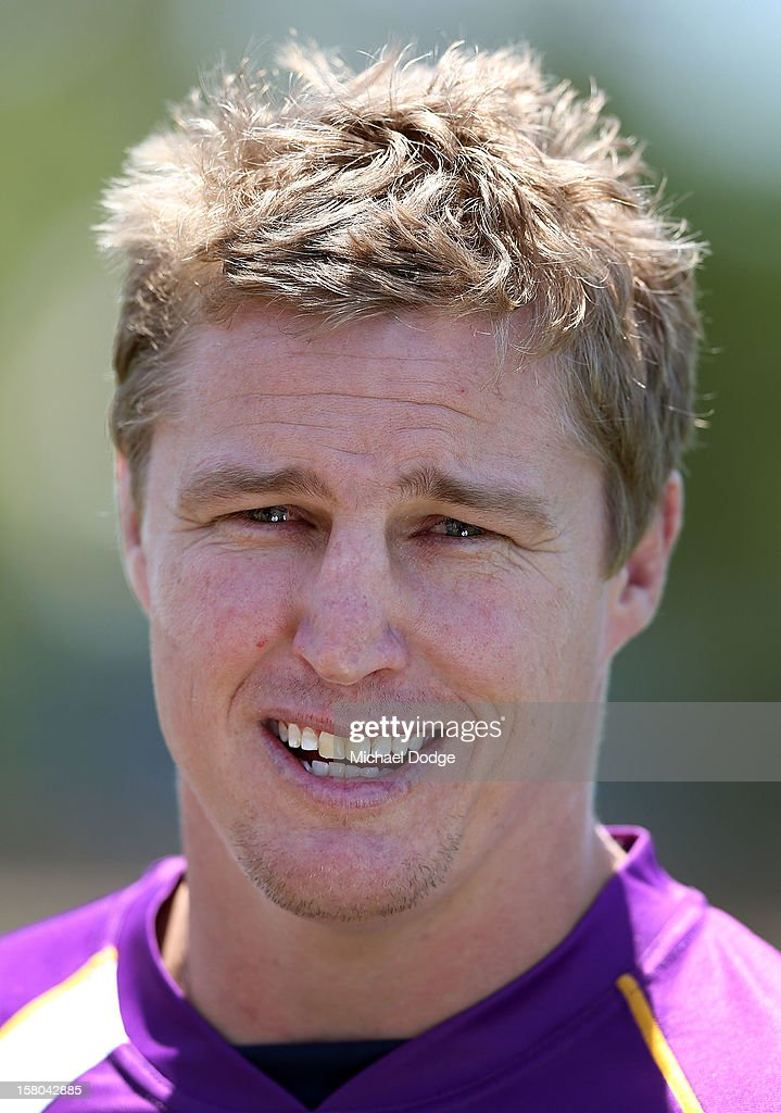 <a gi-track='captionPersonalityLinkClicked' href=/galleries/search?phrase=Brett+Finch&family=editorial&specificpeople=207179 ng-click='$event.stopPropagation()'>Brett Finch</a> looks on during a Melbourne Storm NRL training session at Gosch's Paddock on December 10, 2012 in Melbourne, Australia.