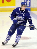 Brett Foy of the Mississauga Steelheads takes warmup prior to a game against the North Bay Battalion on March 7 2014 at the Hershey Centre in...