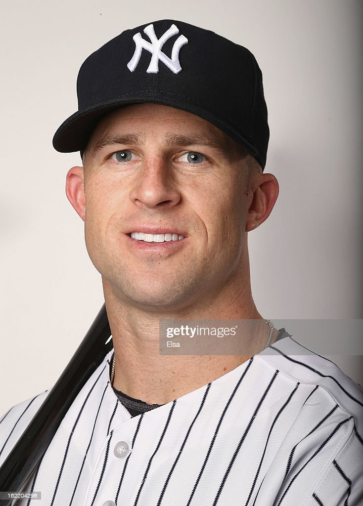 <a gi-track='captionPersonalityLinkClicked' href=/galleries/search?phrase=Brett+Gardner&family=editorial&specificpeople=4172518 ng-click='$event.stopPropagation()'>Brett Gardner</a> #11 of the New York Yankees poses for a portrait on February 20, 2013 at George Steinbrenner Stadium in Tampa, Florida.
