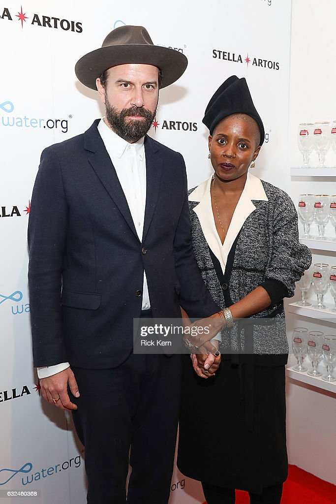 Television personality Brett Gelman with his wife Janicza Bravo