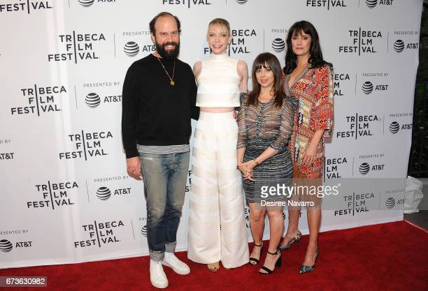 Brett Gelman Riki Lindhome Natasha Leggero and Paget Brewster attend 2017 Tribeca Film Festival 'Another Period' at SVA Theatre on April 26 2017 in...