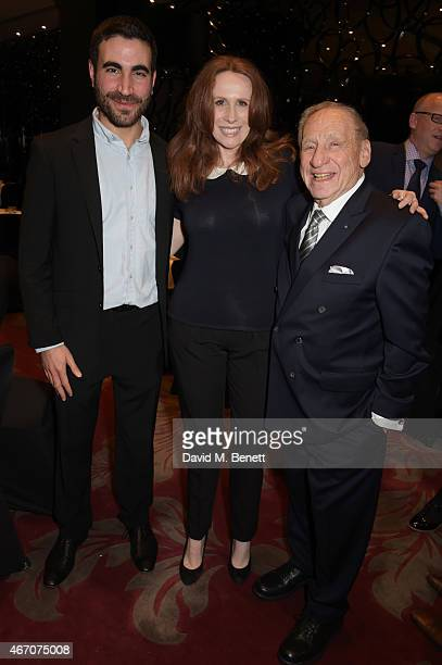 Brett Goldstein Catherine Tate and Mel Brooks attend the Mel Brooks BFI Fellowship Dinner at The May Fair Hotel on March 20 2015 in London England