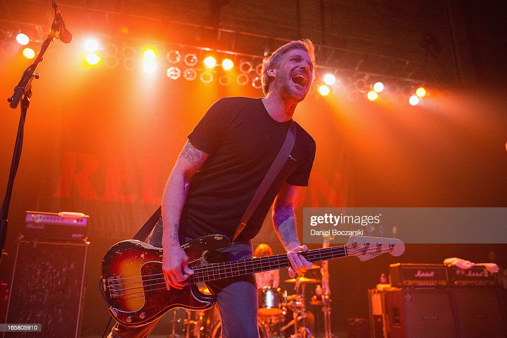 Brett Gurewitz of Bad Religion performs on stage in concert at Congress Theater on April 5, 2013 in Chicago, Illinois.
