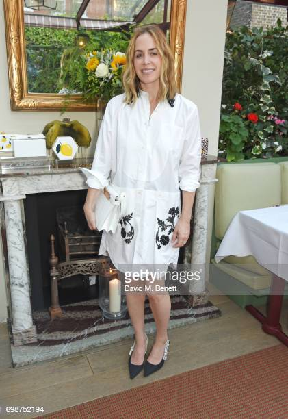 Brett Heyman founder and creative director of Edie Parker attends a cocktail evening to celebrate the Edie Parker Resort 2018 collection at Mark's...