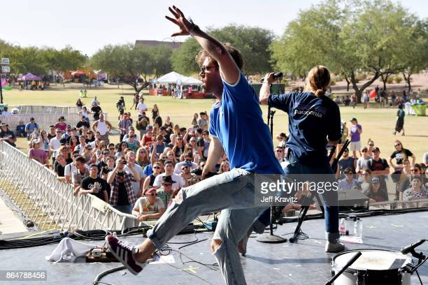 Brett Hite and James Sunderland of Frenship perform at Camelback Stage during day 2 of the 2017 Lost Lake Festival on October 21 2017 in Phoenix...