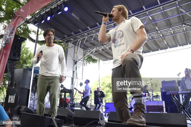 Brett Hite and James Sunderland of Frenship perform during Lollapalooza 2017 at Grant Park on August 4 2017 in Chicago Illinois