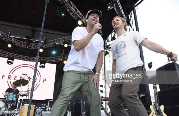 Brett Hite and James Sunderland of Frenship perform during the 2017 Life is Beautiful Festival on September 24 2017 in Las Vegas Nevada