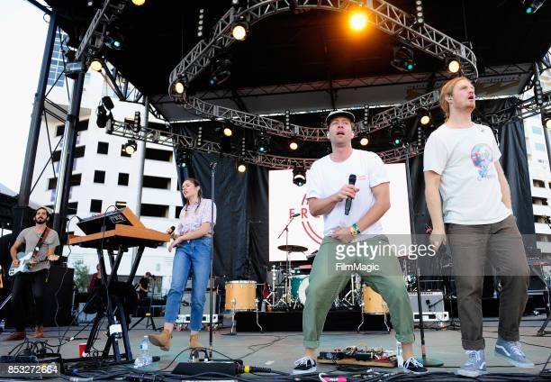 Brett Hite and James Sunderland of Frenship perform on Huntridge Stage during day 3 of the 2017 Life Is Beautiful Festival on September 24 2017 in...