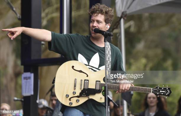 Brett Hite of Frenship performs during the 2017 Outside Lands Music and Arts Festival at Golden Gate Park on August 13 2017 in San Francisco...