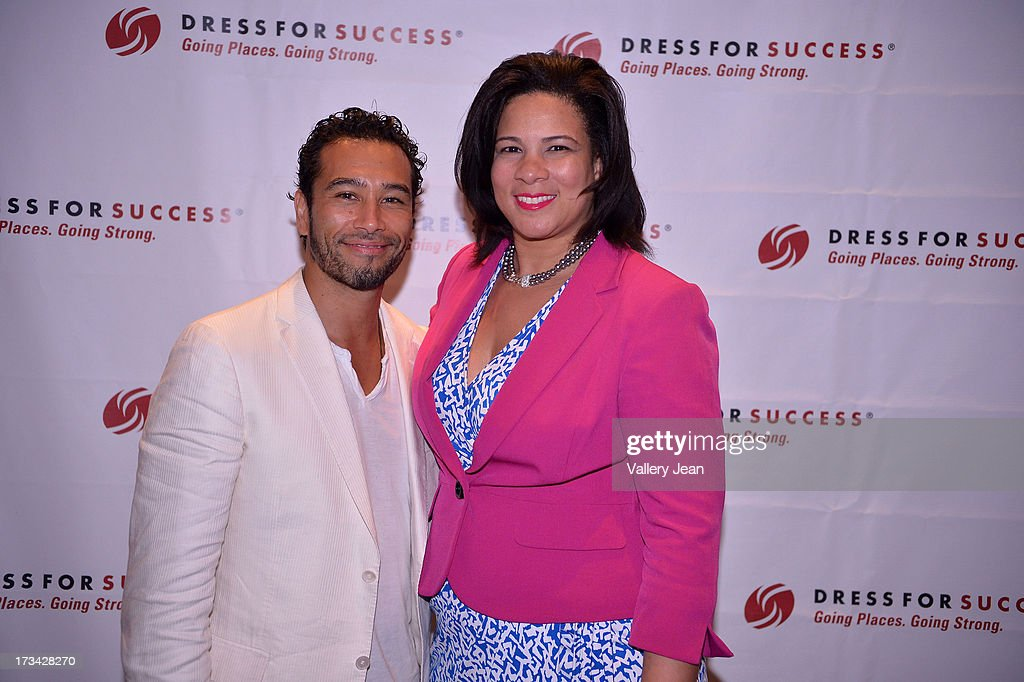 Brett Hoebel and Angela Williams attend The 9th Annual Success Summit hosted by Dress For Success Worldwide at Epic Hotel on July 13, 2013 in Miami, Florida.