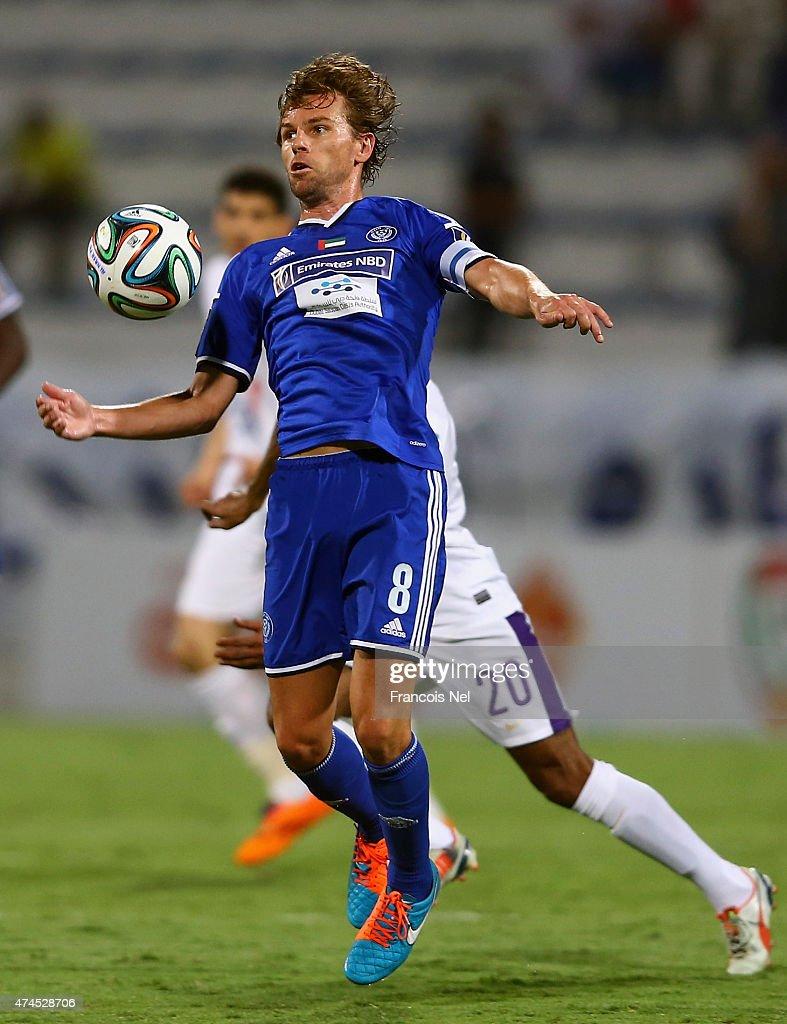 Brett Holman of Al Nasr in action during the Presidents Cup Quarter Final match between Al Ain and Al Nasr at Al Maktoum Stadium on May 23 2015 in...