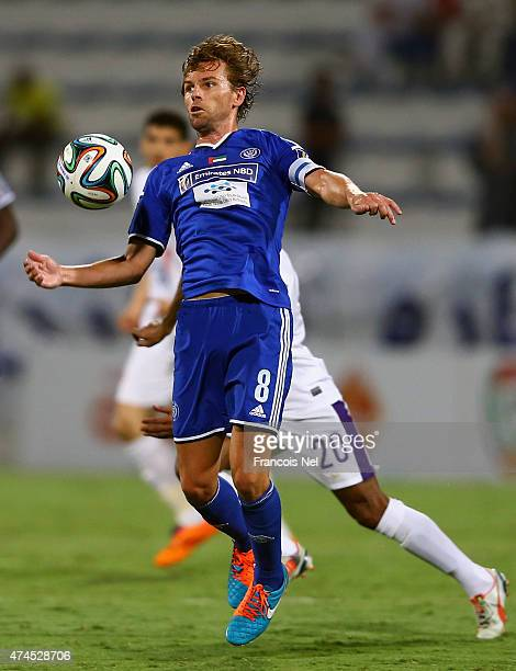 Brett Holman of Al Nasr in action during the Presidents Cup Quarter Final match between Al Ain and Al Nasr at Al Maktoum Stadium on May 23 2015 in...