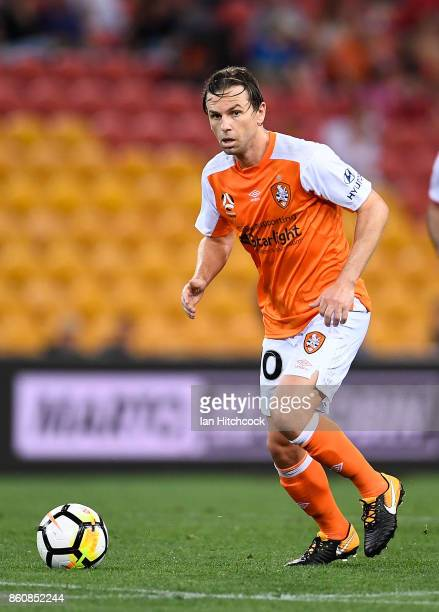 Brett Holman of the Roar looks to pass the ball during the round two ALeague match between the Brisbane Roar and Adelaide United at Suncorp Stadium...