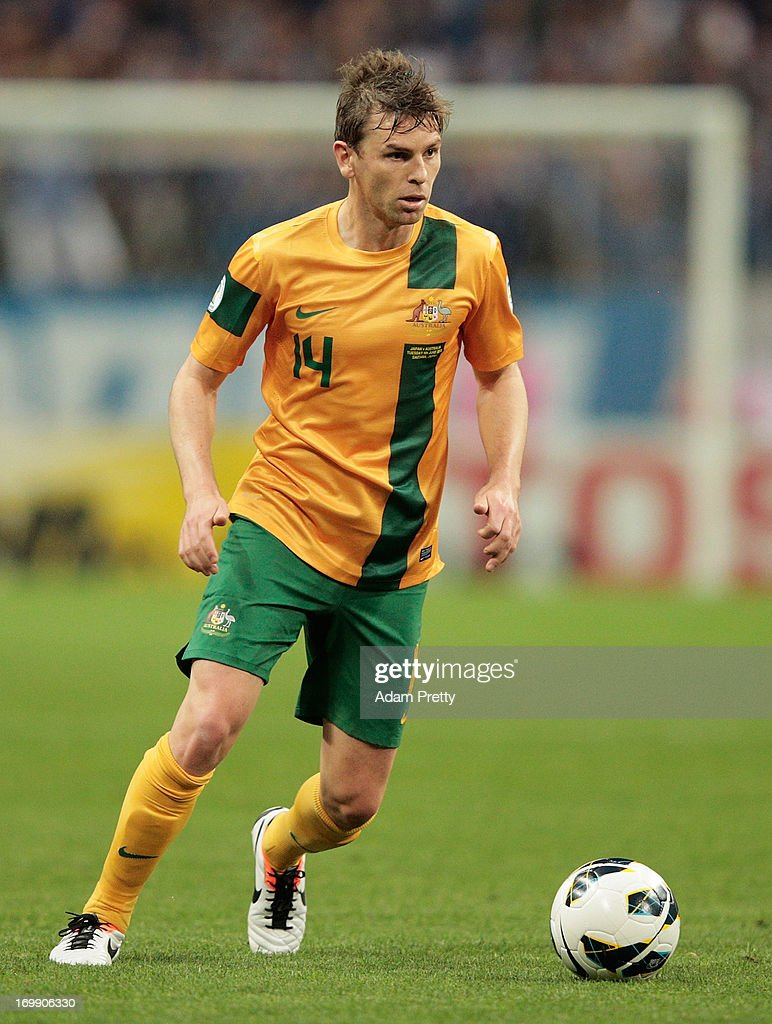 Brett Holmanof Australia in action during the FIFA World Cup qualifier match between Japan and Australia at Saitama Stadium on June 4 2013 in Saitama...