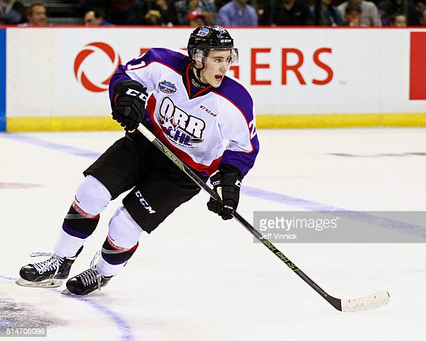 Brett Howden of Team Orr skates up ice during the CHL/NHL Top Prospects Game January 28 2016 at Pacific Coliseum in Vancouver British Columbia Canada