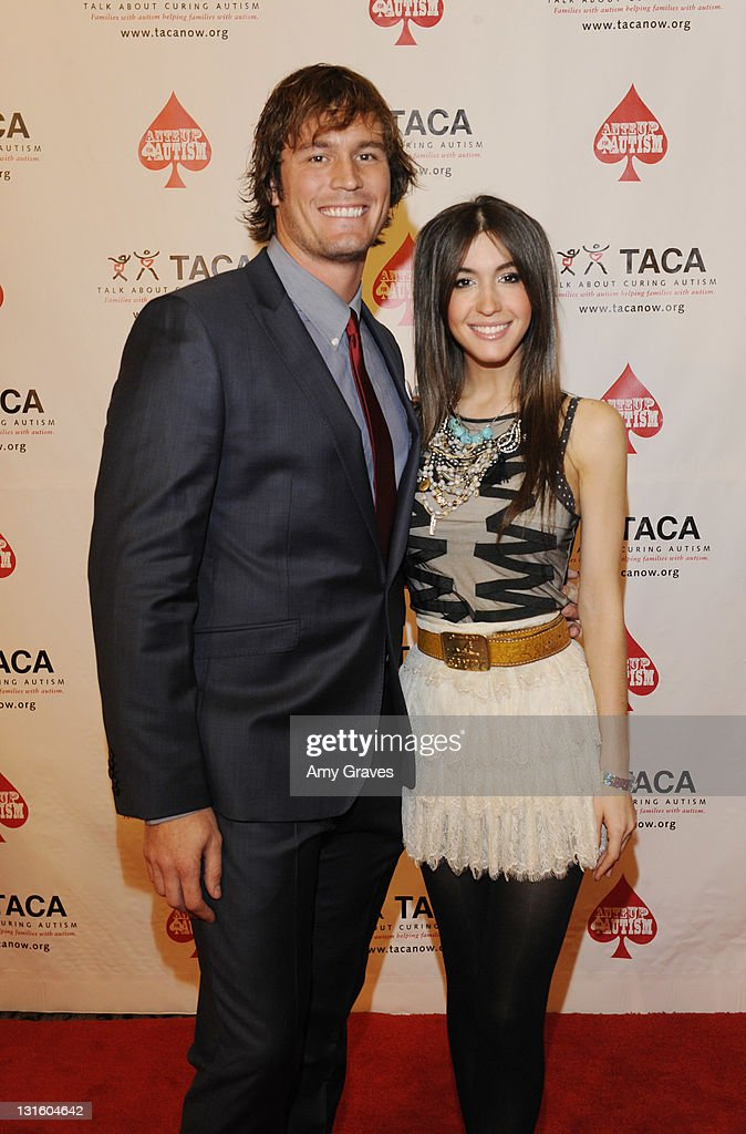 Brett Hughes and Kate Voegele attend the Ante-Up for Autism Event at St. Regis Monarch Beach Resort on November 5, 2011 in Dana Point, California.