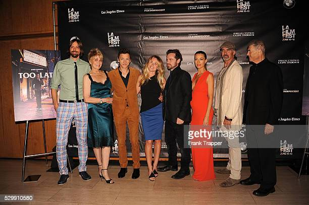 Brett Jacobsen Joanna Cassidy John Hawkes Vail Bloom Rider Strong Natalie Zea Jeff Fahey and Robert Forrester arrive at the premiere of 'Too Late'...