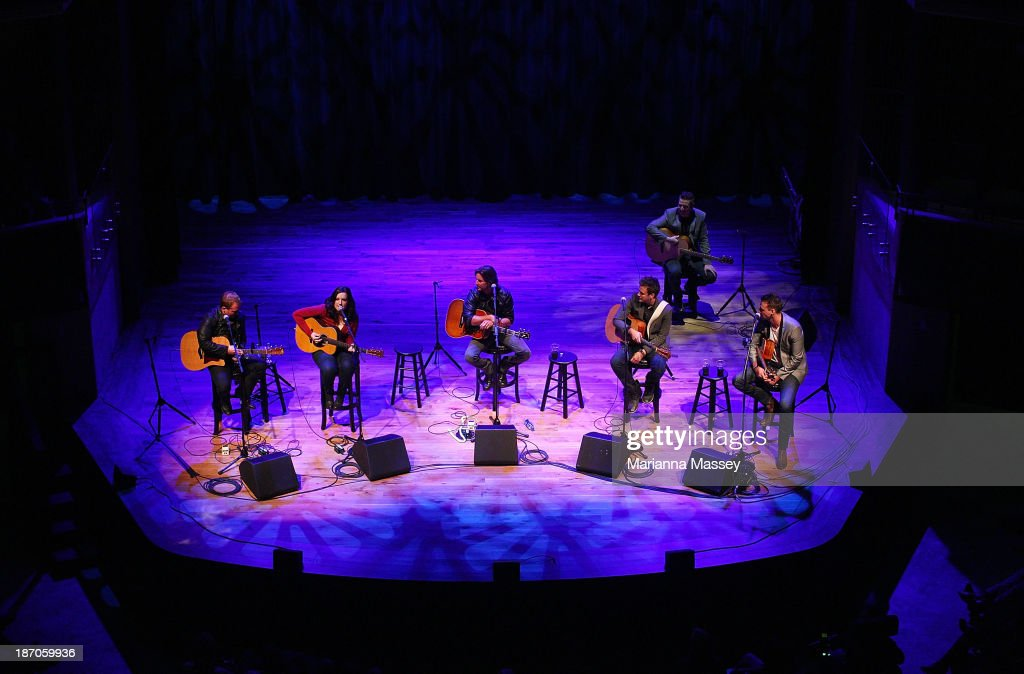 Brett James, Love & Theft, Brandy Clark And Shane McAnally perform during the 2013 CMA Songwriters Series at the CMA Theater on November 5, 2013 in Nashville, Tennessee.
