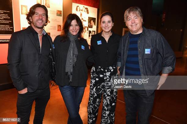 Brett James Tracy Gershon Alicia Warwick and Bela Fleck arrive at the The Recording Academy District Advocate Day at Musicians Hall of Fame and...
