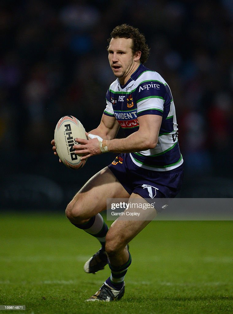 Brett Kearney of Bradford during Rugby League pre-season friendly between Leeds Rhinos and Bradford Bulls at Headingley Stadium on January 20, 2013 in Leeds, England.