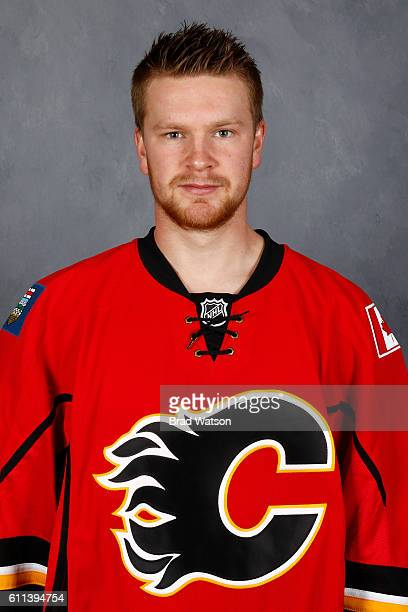 Brett Kulak of the Calgary Flames poses for his official headshot for the 20162017 season on September 22 2016 at the WinSport Winter Sport Institute...