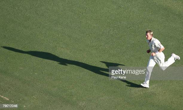 Brett Lee of Australia bowls during day one of the Third Test match between Australia and India at the WACA on January 16 2008 in Perth Australia