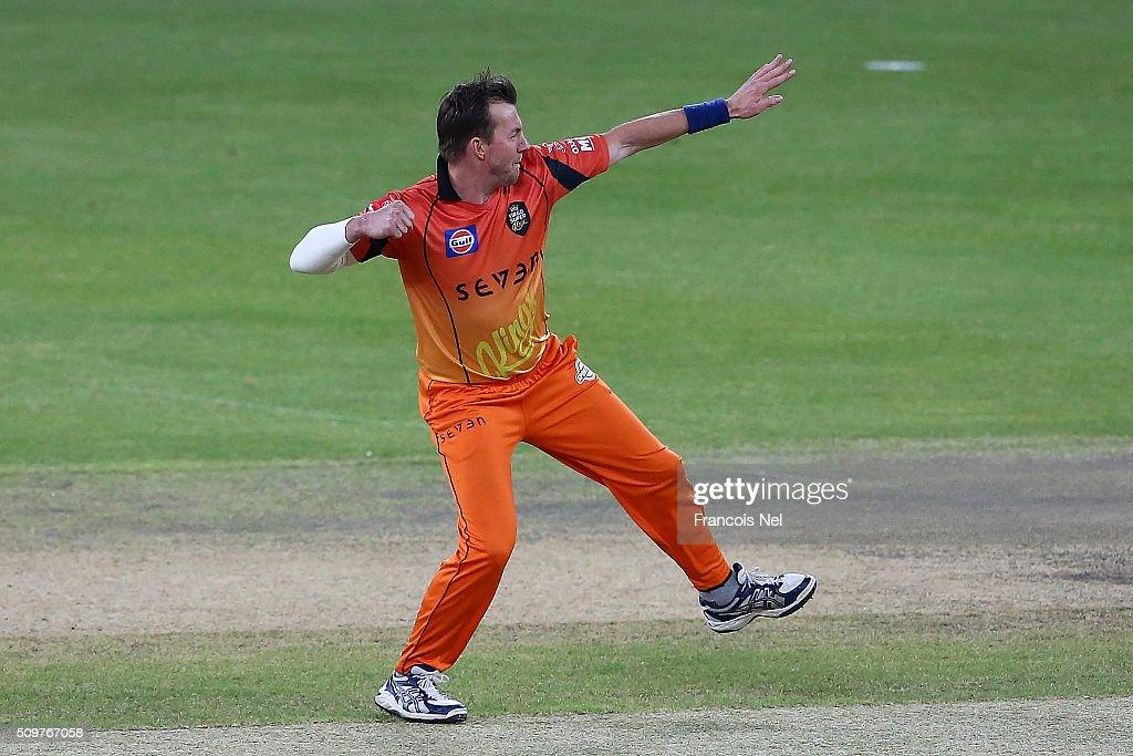 <a gi-track='captionPersonalityLinkClicked' href=/galleries/search?phrase=Brett+Lee&family=editorial&specificpeople=169885 ng-click='$event.stopPropagation()'>Brett Lee</a> of Virgo Super Kings celebrates the wicket of Neil Carter of Leo Lions during the Oxigen Masters Champions League Semi Final match between Leo Lions and Virgo Super Kings at Dubai International Cricket Stadium on February 12, 2016 in Dubai, United Arab Emirates.