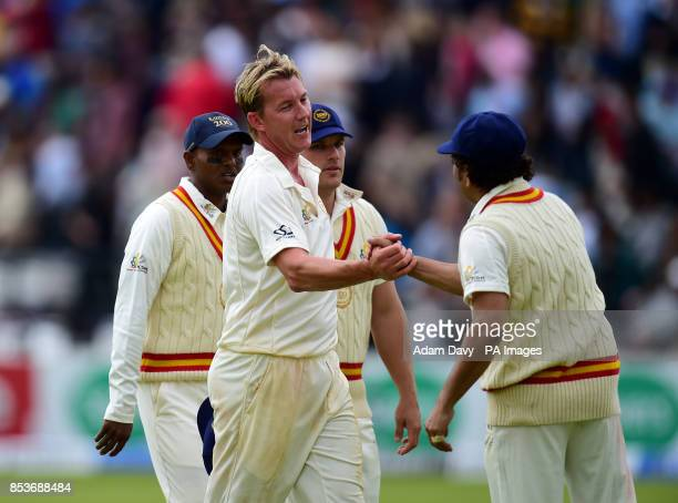 Brett Lee with Sachin Tendulkar