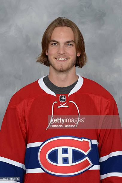 Brett Lernout of the Montreal Canadiens poses for his official headshot for the 20152016 season on September 17 2015 at the Bell Sports Complex in...