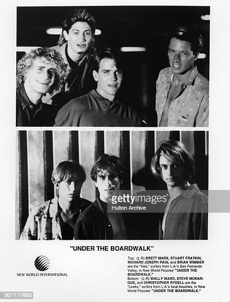Brett Marx Stuart Fratkin Richard Joseph Paul and Brian Wimmer pose Wallace Langham Steve Monarque and Christopher Rydell pose for the movie 'Under...