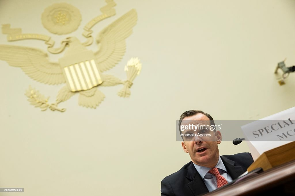 Brett McGurk, Special Presidential Envoy for the Global Coalition to Counter Daesh, testifies during a House Foreign Affairs hearing on From Iraq and Syria to Libya and Beyond: The Evolving Daesh Threat in Washington, USA on February 10, 2016.