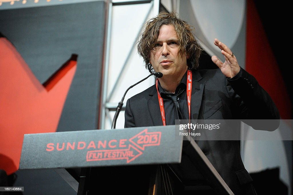 Brett Morgan speaks onstage at the Awards Night Ceremony during the 2013 Sundance Film Festival at Basin Recreation Field House on January 26, 2013 in Park City, Utah.