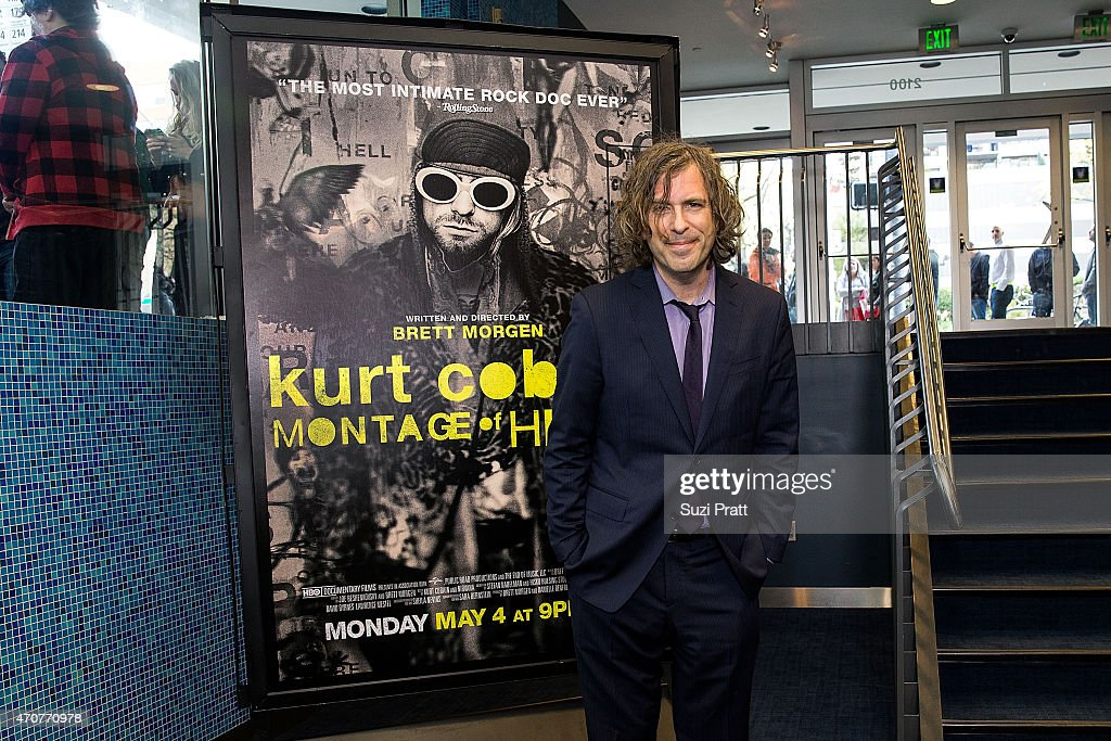 Brett Morgan, the director, writer, and producer of Montage of Heck, appears at Cinerama Theater on April 22, 2015 in Seattle, Washington.