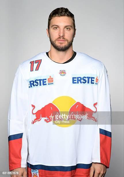 Brett Olson of EC Red Bull Salzburg during the portrait shot September 16 2016 in Salzburg Austria