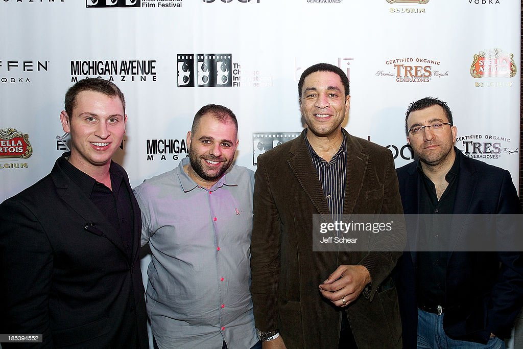 Brett Picarazzi, Luc Pietreanu, Harry Lennix and Zafer Genc attend Michigan Avenue Magazine Celebrates H4 Starring Harry Lennix at Bodi Chicago on October 20, 2013 in Chicago, Illinois.