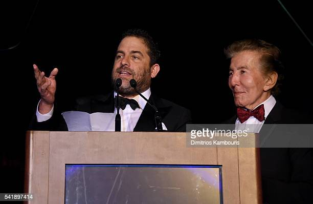 Brett Ratner and Al Malnik speak as the Friars Club Honors Tony Bennett With The Entertainment Icon Award Inside at New York Sheraton Hotel Tower on...