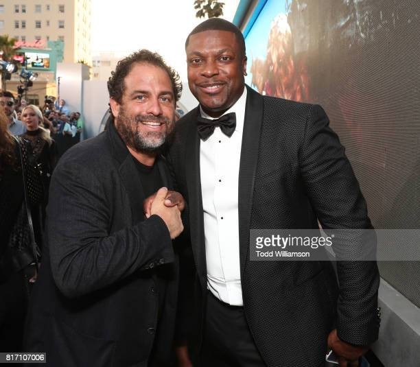 Brett Ratner and Chris Tucker attend the premiere of EuropaCorp And STX Entertainment's 'Valerian And The City Of A Thousand Planets' at TCL Chinese...