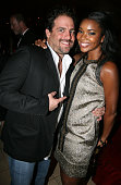 Brett Ratner and Gabrielle Union attends Kimora Lee Simmons Hosts '50 Fabulous' Surprise Birthday Party for Russell Simmons on September 30 2007 in...