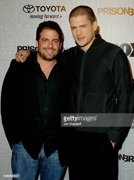 Brett Ratner and Wentworth Miller during 'Prison Break' End of Season Screening Party at Fox Lot in Los Angeles California United States