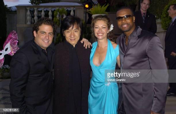 Brett Ratner Jackie Chan Rebecca Gayheart and Chris Tucker