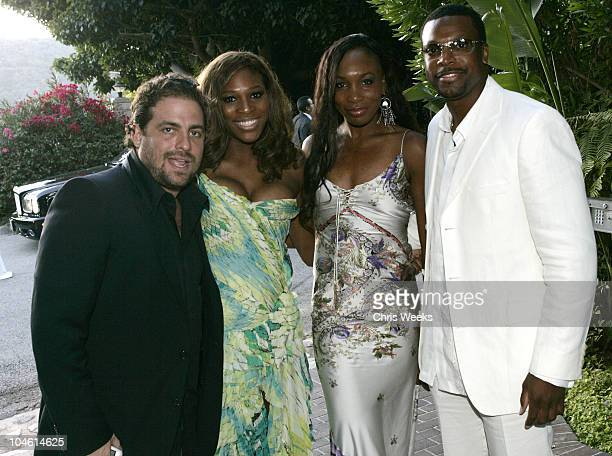 Brett Ratner Serena Williams Venus Williams and Chris Tucker