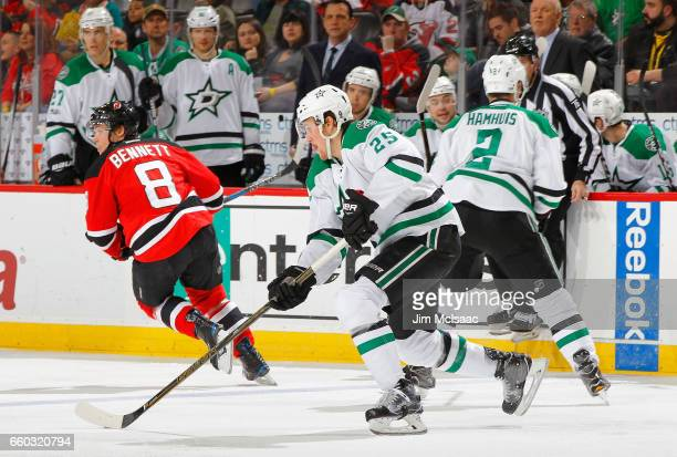 Brett Ritchie of the Dallas Stars in action against the New Jersey Devils on March 26 2017 at Prudential Center in Newark New Jersey The Stars...