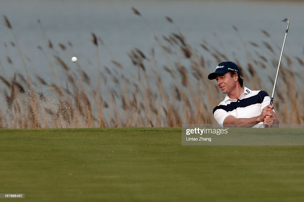 Brett Rumford of Australia in action during the first day of the Volvo China Open at Binhai Lake Golf Course on May 2, 2013 in Tianjin, China.
