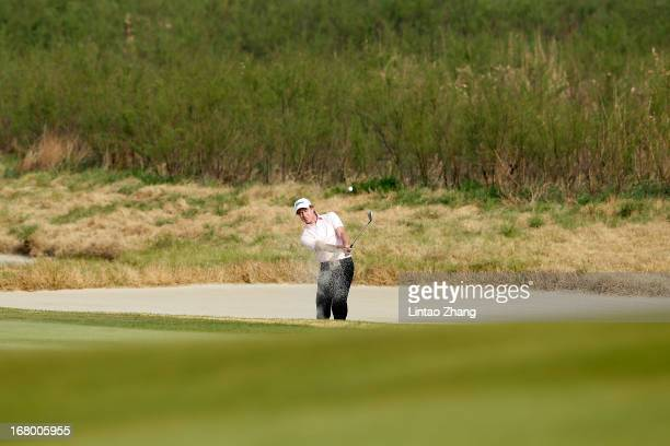 Brett Rumford of Australia plays a shot during the third day of the Volvo China Open at Binhai Lake Golf Course on May 4 2013 in Tianjin China