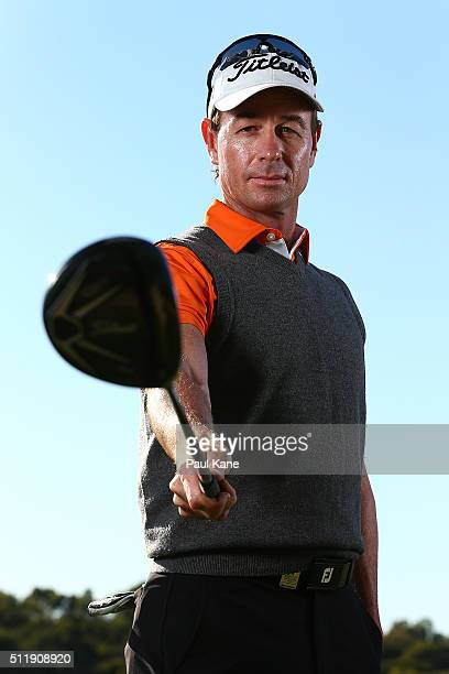 Brett Rumford of Australia poses ahead of the 2016 Perth International at Lake Karrinyup Country Club on February 24 2016 in Perth Australia